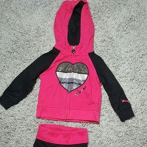 Girls Puma Sport Set 2 Piece Jacket w/ Pants
